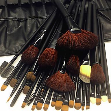محترف فرش المكياج مجموعات فرشاة 32pcs صديقة للبيئة متخصص ناعم التغطية الكاملة مريح فرشاة الشعر الماعز خشبي / بامبو إلى عن على
