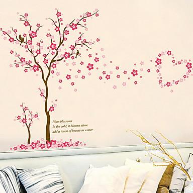 لواصق حائط مزخرفة - لواصق حائط الطائرة الأزهار / النباتية غرفة الجلوس