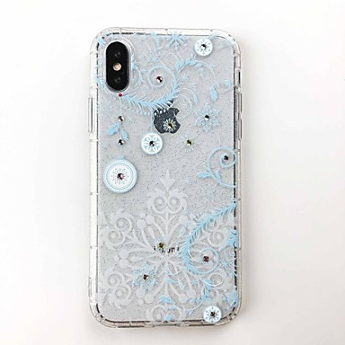 غطاء من أجل Apple iPhone X / iPhone 8 Plus / iPhone 8 اصنع بنفسك غطاء خلفي بريق لماع ناعم TPU