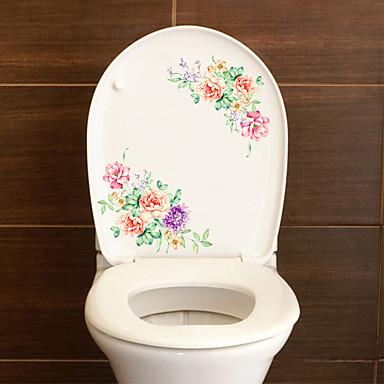 لواصق المرحاض - ملصقات الحائط الحيوان حيوانات / 3D غرفة الجلوس / غرفة النوم / دورة المياه