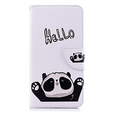 غطاء من أجل Huawei Huawei P20 / Huawei P20 Pro / Huawei P20 lite محفظة / حامل البطاقات / مع حامل غطاء كامل للجسم باندا قاسي جلد PU / P10 Lite