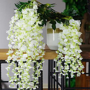 زهور اصطناعية 12 فرع معلقة على الحائط الحديث المعاصر أسلوب بسيط الزهور الخالدة أزهار الحائط