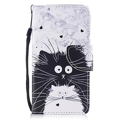 غطاء من أجل Apple iPhone 8 / iPhone 7 محفظة / حامل البطاقات / قلب غطاء كامل للجسم قطة قاسي جلد PU