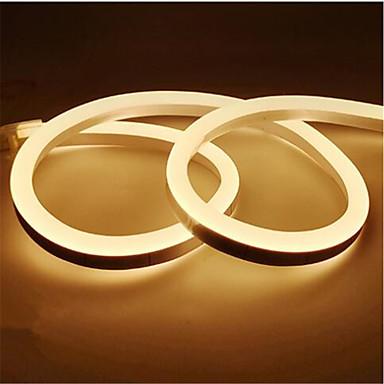 رخيصةأون شرائط ضوء مرنة LED-1 متر 12 فولت أدى الشريط ضوء ماء بقيادة الشريط مصباح 2835 smd مرنة بقيادة قطاع النيون بقيادة علامة متن أنبوب حبل سلسلة الأنوار