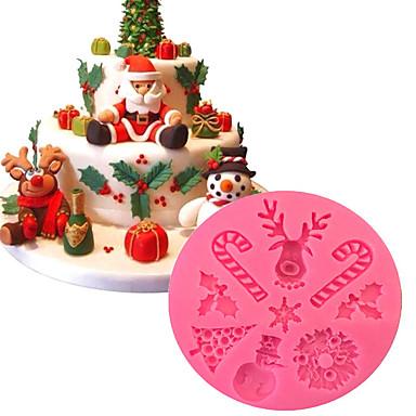 1PC سيليكون متعددة الوظائف عيد الميلاد المجيد 3D لأواني الطبخ قوالب الكيك أدوات خبز