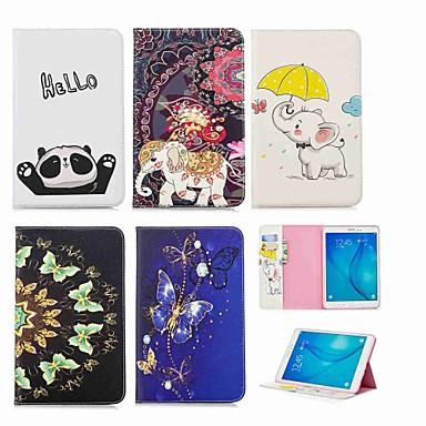غطاء من أجل Samsung Galaxy Tab A 9.7 محفظة / حامل البطاقات / مع حامل غطاء كامل للجسم فيل قاسي جلد PU