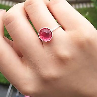 نسائي خاتم 1PC أخضر زهري راتينج سبيكة دائري Geometric Shape سيدات بسيط حلو مناسب للبس اليومي مجوهرات أشكال النحت وردة محبوب