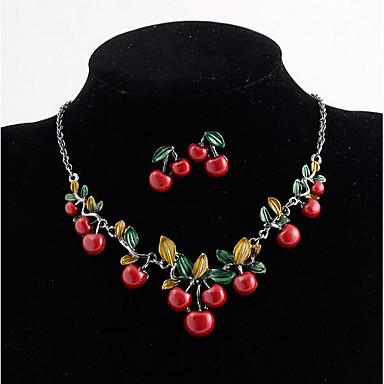 Dámské Peckové náušnice Prohlášení Náhrdelníky Retro styl Třásně dámy Vintage Velkoformátové Pryskyřice Náušnice Šperky Červená Pro Svatební Večerní oslava