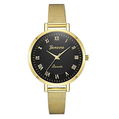 3fbfac93ba5a Geneva Mujer Reloj de Pulsera Relojes de Oro Cuarzo Plata   Dorado Nuevo  diseño Reloj Casual Cool Analógico damas Casual Moda - Negro y Oro Plateado  ...