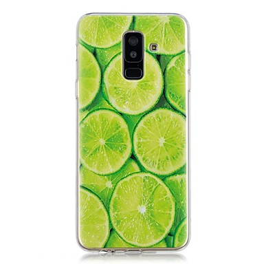 voordelige Galaxy A-serie hoesjes / covers-hoesje Voor Samsung Galaxy A6 (2018) / A6+ (2018) / A3 (2017) Transparant / Patroon Achterkant Fruit Zacht TPU