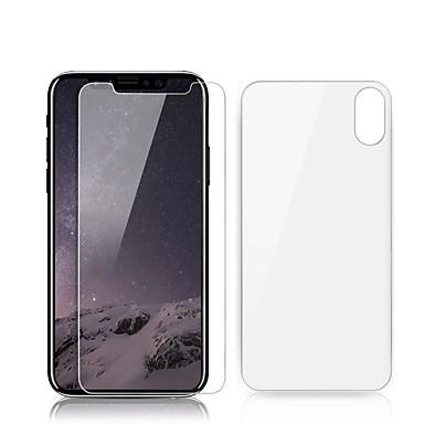 voordelige iPhone screenprotectors-AppleScreen ProtectoriPhone X 9H-hardheid Voorkant- & achterkantbescherming 2 pcts Gehard Glas