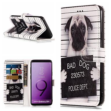 Недорогие Чехлы и кейсы для Galaxy S6 Edge-Кейс для Назначение SSamsung Galaxy S9 / S9 Plus / S8 Plus Кошелек / Бумажник для карт / со стендом Чехол С собакой / Слова / выражения Твердый Кожа PU