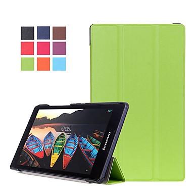 غطاء من أجل Lenovo Lenovo Tab3 8 / Lenovo Tab 2 A8-50 مع حامل / مغناطيس غطاء كامل للجسم لون سادة قاسي جلد PU