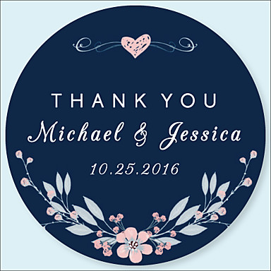 cheap Customized Prints and Gifts-Wedding Stickers, Labels & Tags - 48 pcs Circular Stickers / Envelope Sticker All Seasons