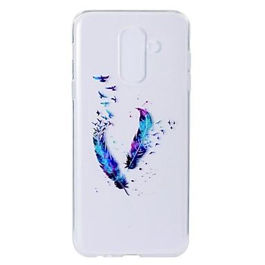 غطاء من أجل Samsung Galaxy A5(2018) / A6 (2018) / A6+ (2018) نموذج غطاء خلفي الريش ناعم TPU