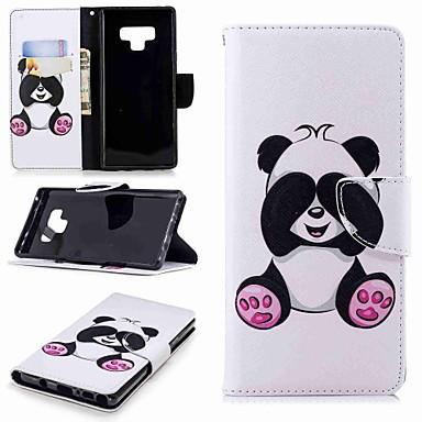 povoljno Maske za mobitele-Θήκη Za Samsung Galaxy Note 9 / Note 8 Novčanik / Utor za kartice / sa stalkom Korice Panda Tvrdo PU koža