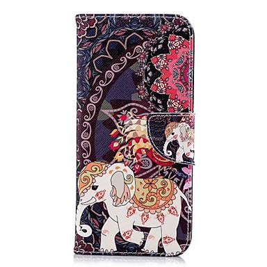 Недорогие Чехлы и кейсы для Galaxy S-Кейс для Назначение SSamsung Galaxy S9 / S9 Plus / S8 Plus Кошелек / Бумажник для карт / со стендом Чехол Слон Твердый Кожа PU