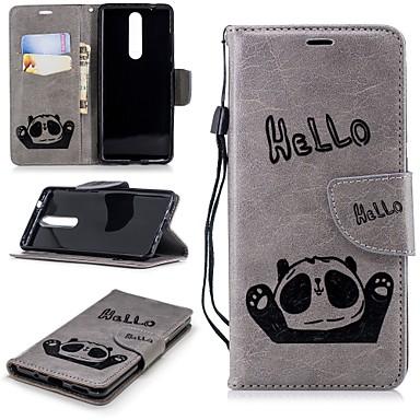 رخيصةأون Nokia أغطية / كفرات-غطاء من أجل نوكيا Nokia 5 / Nokia 5.1 / Nokia 3 محفظة / حامل البطاقات / مع حامل غطاء كامل للجسم باندا قاسي جلد PU