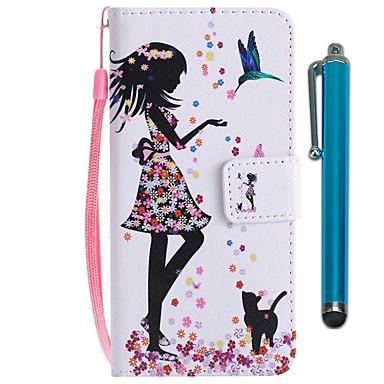 غطاء من أجل Huawei Huawei P20 / Huawei P20 lite / هواوي P30 محفظة / حامل البطاقات / مع حامل غطاء كامل للجسم قطة / امرآة مثيرة قاسي جلد PU