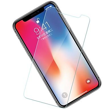 voordelige iPhone screenprotectors-AppleScreen ProtectoriPhone X 9H-hardheid Voorkant screenprotector 10 stuks Gehard Glas