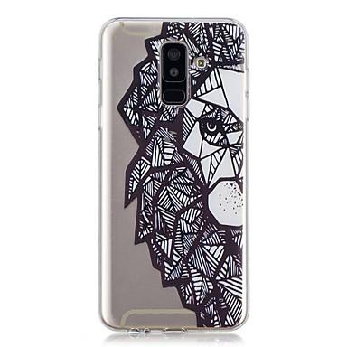 غطاء من أجل Samsung Galaxy A6 (2018) / A6+ (2018) / A3 (2017) شفاف / نموذج غطاء خلفي أسد ناعم TPU