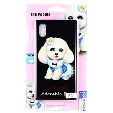 Недорогие Кейсы для iPhone 7 Plus-Кейс для Назначение Apple iPhone X / iPhone 8 Pluss / iPhone 8 С узором Кейс на заднюю панель С собакой Твердый Закаленное стекло