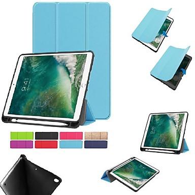 غطاء من أجل Apple ايباد ميني 5 / iPad New Air (2019) / iPad Air مع حامل / مغناطيس غطاء كامل للجسم لون سادة قاسي TPU / iPad Pro 10.5