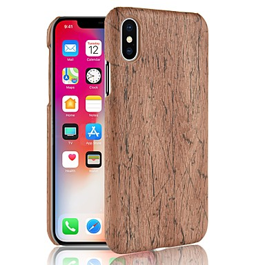 voordelige iPhone-hoesjes-hoesje Voor Apple iPhone X / iPhone 8 Plus / iPhone 8 Patroon Achterkant Houtnerf Hard PC