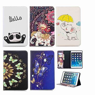 غطاء من أجل Apple ايباد ميني 5 / iPad New Air (2019) / iPad Mini 3/2/1 محفظة / حامل البطاقات / مع حامل غطاء كامل للجسم حيوان / فيل قاسي جلد PU