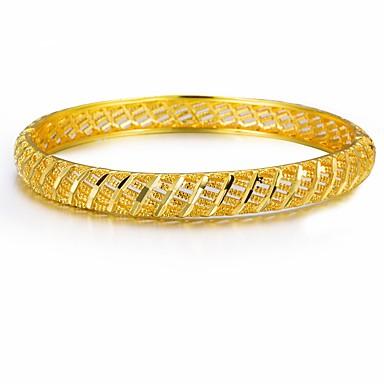 نسائي أساور أساور اصفاد أشكال النحت خلاق سيدات عرقي مطلية بالذهب مجوهرات سوار أصفر من أجل مناسب للحفلات هدية