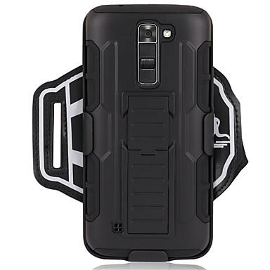 Недорогие Универсальные чехлы и сумочки-Кейс для Назначение LG LG K7 Спортивныеповязки / Защита от удара С ремешком на руку Однотонный Твердый ПК