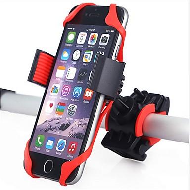 olcso Grips-Telefon tartó 360 Forgó Kompatibilitás Treking bicikli Mountain bike Kerékpározás Műanyagok Silica Gel Fekete Piros