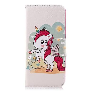 Недорогие Чехлы и кейсы для Galaxy S-Кейс для Назначение SSamsung Galaxy S9 / S9 Plus / S8 Plus Кошелек / Бумажник для карт / со стендом Чехол единорогом Твердый Кожа PU