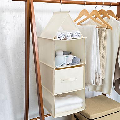 قطن / قماش مستطيل تصميم جديد / إبداعي الصفحة الرئيسية منظمة, 1PC أدراج / منظمو خزانة / منظمو الرف