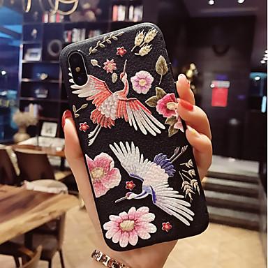 voordelige iPhone X hoesjes-hoesje Voor Apple iPhone X / iPhone 8 Plus / iPhone 8 Patroon Achterkant Flamingo / dier Zacht TPU