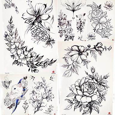 5 pcs الوشم المؤقت سلسلة الزهور / سلسلة رومانسية ملصقات مصقولة / الأمان الفنون الجسم هيكل / ذراع / كتف / الوشم المؤقت على غرار صائق