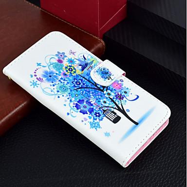 غطاء من أجل Huawei Huawei P20 / Huawei P20 lite / P10 Lite محفظة / حامل البطاقات / مع حامل غطاء كامل للجسم شجرة / زهور قاسي جلد PU