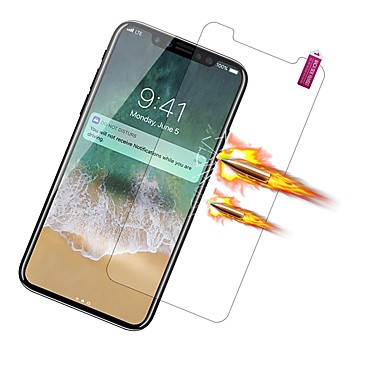 voordelige iPhone screenprotectors -AppleScreen ProtectoriPhone X High-Definition (HD) Voorkant screenprotector 1 stuks PET
