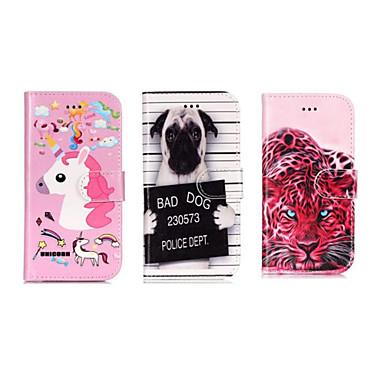 voordelige Galaxy S-serie hoesjes / covers-hoesje Voor Samsung Galaxy S9 / S9 Plus / S8 Portemonnee / Kaarthouder / met standaard Volledig hoesje dier / Cartoon Hard PU-nahka