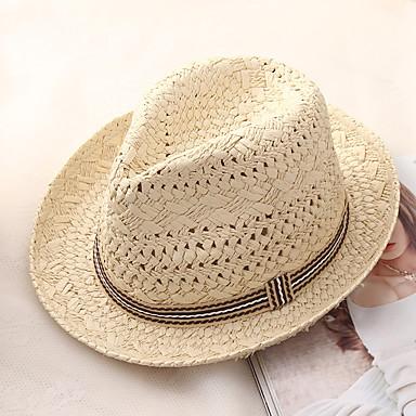 الصيف البيج كاكي قبعة الماصة ألوان متناوبة رجالي قش,أساسي عطلة