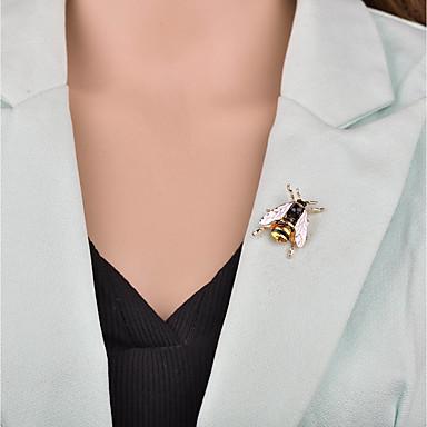 نسائي دبابيس 3D نحلة سيدات كرتون أوروبي بروش مجوهرات ذهبي أبيض أخضر من أجل حفلة ليلية المكتب & الوظيفة