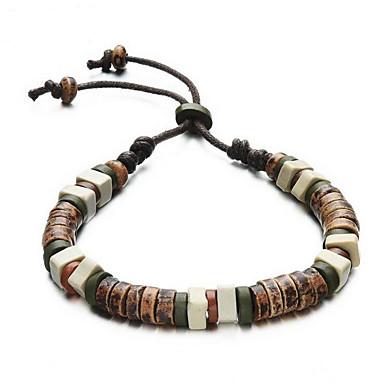 رجالي كومة أساور حبلا حلوى رومانسي الأفريقي سوار مجوهرات أخضر من أجل مناسب للبس اليومي مناسب للعطلات