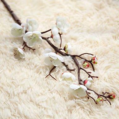 زهور اصطناعية 1 فرع كلاسيكي زهري ساكورا أزهار الأرض