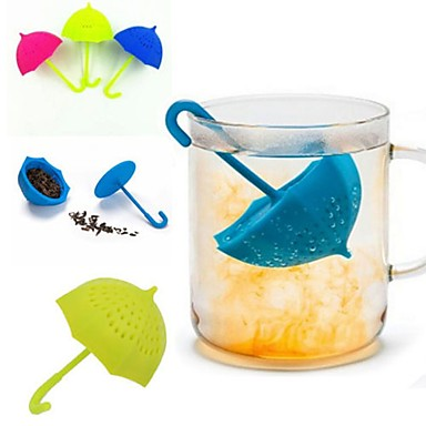 olcso Teázás kellékek-esernyő tea infuser szilikon tea sttrainer laza levél szűrő szűrő