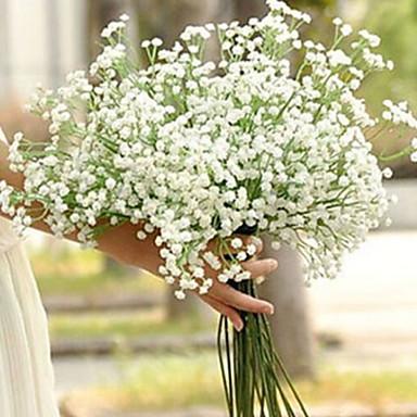 رخيصةأون ديكور المنزل-زهور اصطناعية 1 فرع فردي الزفاف ورادت ناعمة