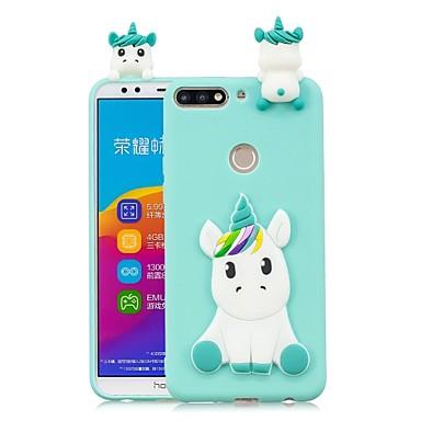povoljno Maske za mobitele-Θήκη Za Huawei Huawei Honor 9 Lite / Honor 7X / Honor 7C(Enjoy 8) Uradi sam Stražnja maska Jednorog Mekano TPU
