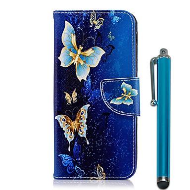 غطاء من أجل Samsung Galaxy A6+ (2018) / A6 (2018) محفظة / حامل البطاقات / مع حامل غطاء كامل للجسم فراشة قاسي جلد PU إلى A6 (2018) / A6+ (2018) / A5 (2017)