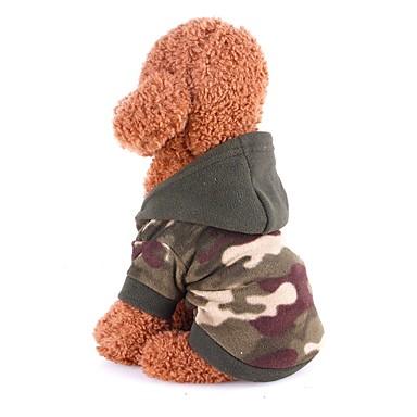 القوارض كلاب قطط المعاطف البلوزات حللا ملابس الكلاب كلاسيكي تمويه اللون القطبية ابتزاز كوستيوم من أجل هاسكي لابرادور Malamute ألاسكا كل الفصول انثى ستايل رياضي أنيق