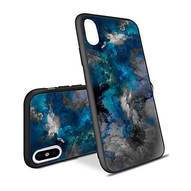 voordelige iPhone 5 hoesjes-hoesje Voor Apple iPhone XS / iPhone XR / iPhone XS Max Patroon Achterkant Marmer / Kleurgradatie Hard Acryl