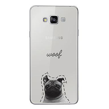 voordelige Galaxy A-serie hoesjes / covers-hoesje Voor Samsung Galaxy A3 (2017) / A5 (2017) / A7 (2017) Patroon Achterkant Hond / Woord / tekst / Cartoon Zacht TPU